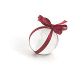 Glass globe and red ribbon Stock Photo