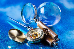 Glass globe, saturated worldwide concept Royalty Free Stock Photos