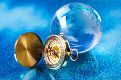 Glass globe, saturated worldwide concept Stock Images