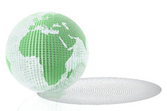 Glass globe with shadow Royalty Free Stock Photos