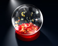 Glass globe with stars Stock Photo