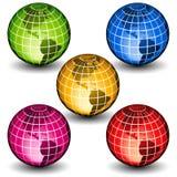 Glass globes Stock Photo