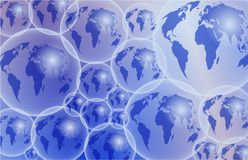 Glass Globes. Transparent globes Royalty Free Stock Images