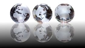 Glass Globes Background Stock Images