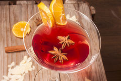 Glass of glogg Stock Photography