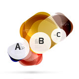 Glass glossy abstract stones with text. Abstract template Stock Photo