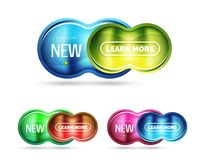 Glass glossy shiny circle round shape, matte realistic material bubble concept with reflection. Abstract banner, concept of technology shape for poster, cover Stock Photo