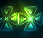 Glass glowing bright triangles on dark space design abstract background. Vector illustration Vector Illustration