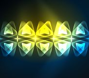 Glass glowing bright triangles on dark space design abstract background. Vector illustration Royalty Free Stock Images
