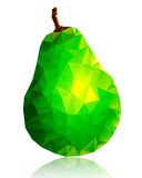 Glass pear on white background Stock Image