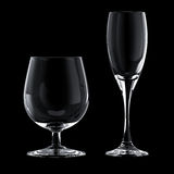 Glass goblet stock photography