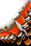 Glass goblet Stock Images