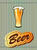 Glass goblet with beer Stock Photography
