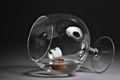 Glass goblet freedom drunkenness Stock Images