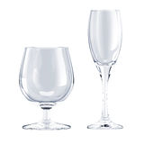 Glass goblet isolated. On white Stock Photos