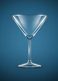 Glass goblet for martini cocktails Royalty Free Stock Images