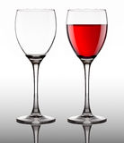 Glass goblet with red wine Royalty Free Stock Image