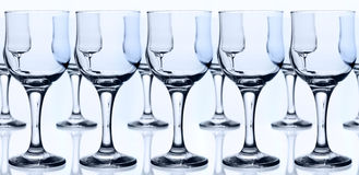 Glass goblets Stock Photography