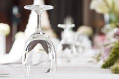 Glass Goblets Stock Photo