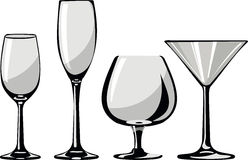 Glass goblets Stock Photos
