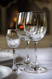 Glass Goblets On The Table Stock Photos