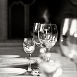 Glass Goblets On The Table Royalty Free Stock Image