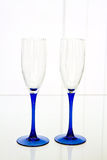 Glass goblets Stock Photo