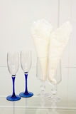 Glass goblets Royalty Free Stock Photo