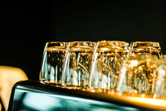 Glass gold Stock Images