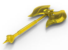 Glass golden axe Stock Images