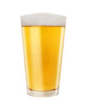 Glass of Golden Light Beer Royalty Free Stock Photography