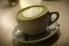 glass grön tea Fotografering för Bildbyråer