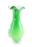 glass grön vase fotografering för bildbyråer