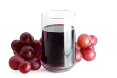 Glass of grape juice royalty free stock photo
