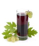 Glass of grape juice Stock Photo