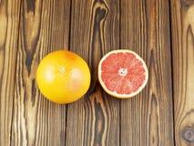 glass grapefruktfruktsaft Arkivfoto