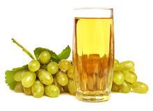 Glass with grapes juice Stock Images