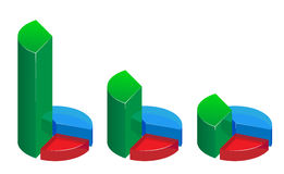 Glass graphs Stock Photo