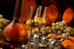 Glass of grappa Royalty Free Stock Image