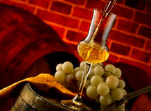 Glass of grappa Royalty Free Stock Images