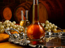 Glass of grappa Stock Images