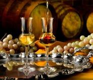 Glass of grappa Stock Image