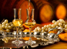 Glass of grappa Stock Photography