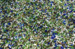 Glass gravel Stock Photo