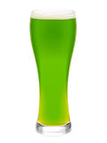 Glass of green beer isolated Royalty Free Stock Images