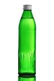 Glass green bottle stock photo