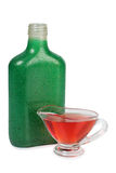 Glass green flask Stock Photos