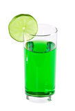 The glass of green juice isolated Stock Photos