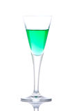 Glass of green paradise cocktail royalty free stock photos