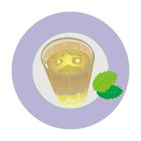 Glass of green tea Royalty Free Stock Photo